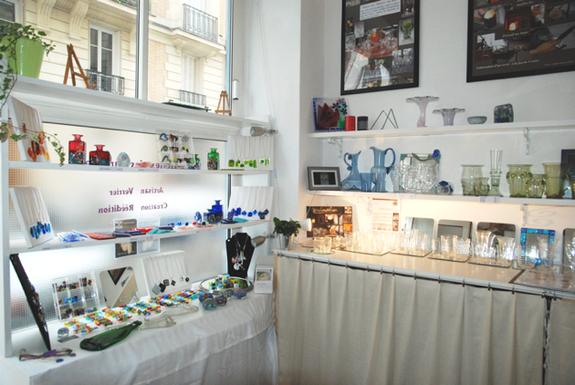 Septembre 2013 atelier showroom verreries des lumi res createur artisa - Verreries des lumieres ...