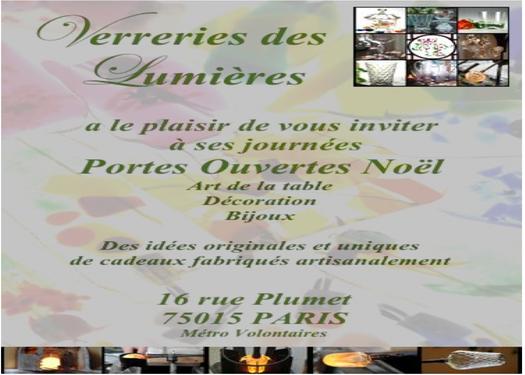 D cembre 2013 portes ouvertes verreries des lumi res createur artisan v - Verreries des lumieres ...