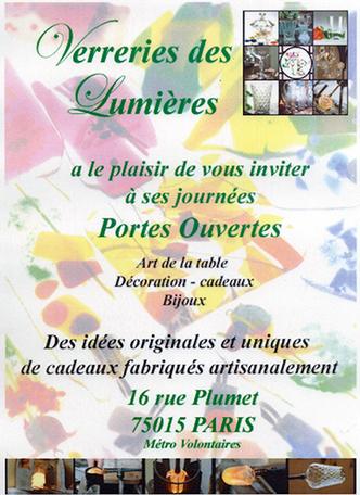 Mars 2015 portes ouvertes verreries des lumi res createur artisan verri - Verreries des lumieres ...